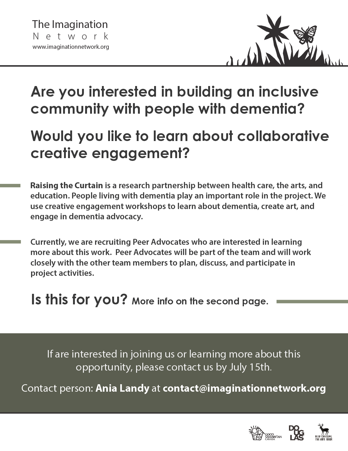 Peer advocates, individuals living with dementia